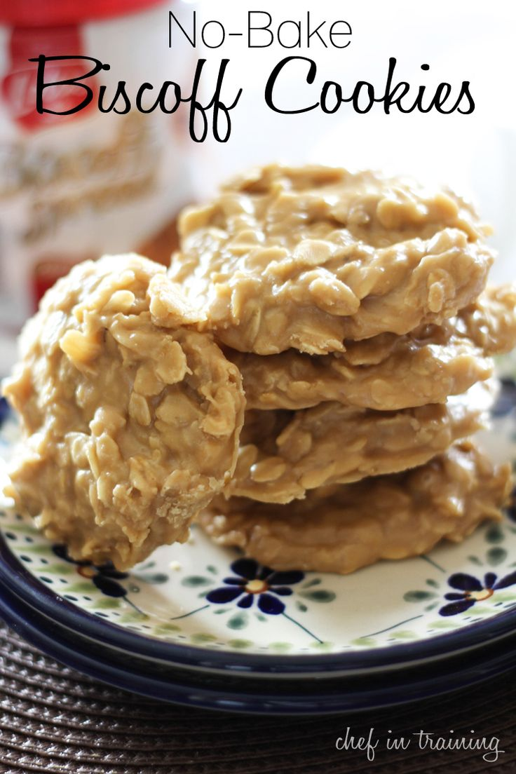 No-Bake Biscoff Cookies | Recipe | Biscoff Cookies, Cookies and ...