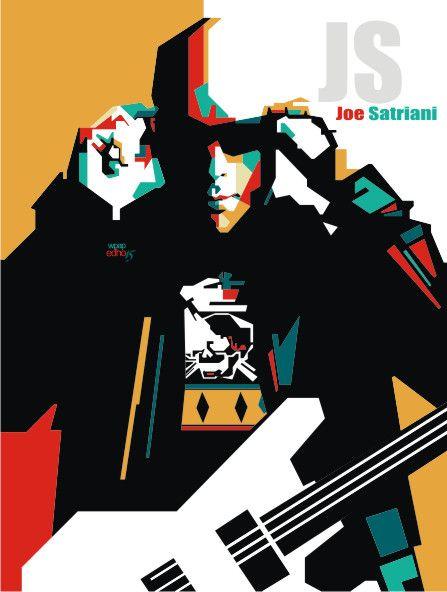 Joe Satriani   WPAP EDHO by edhoartwork on DeviantArt
