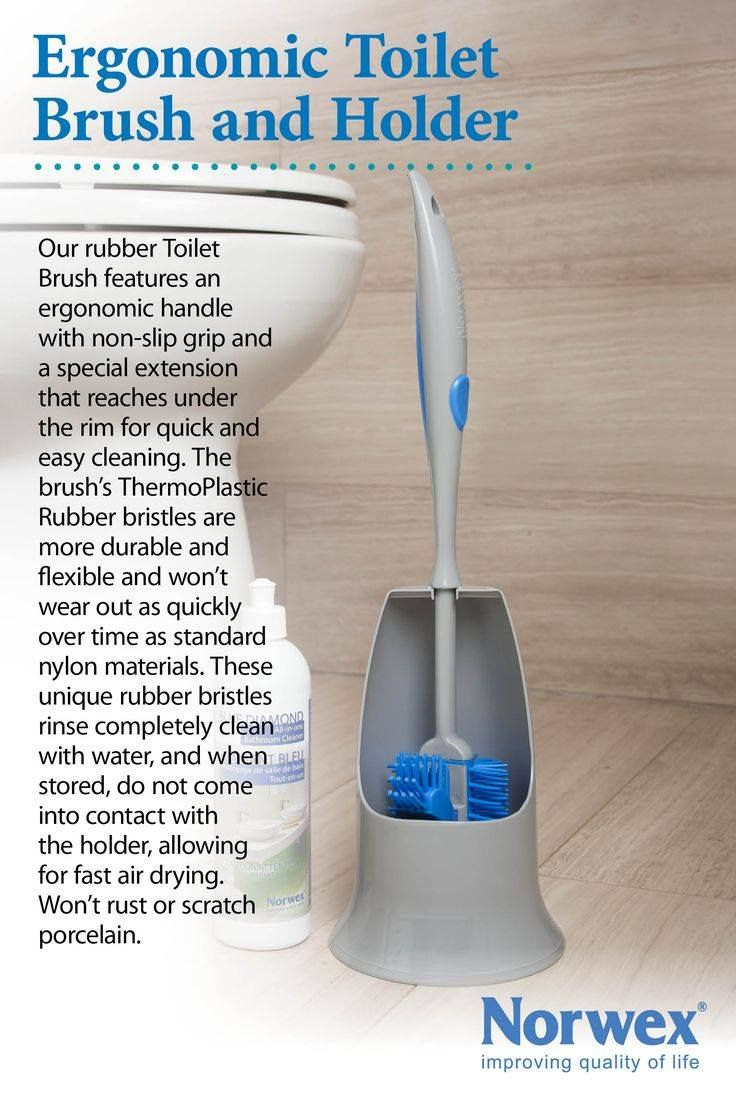 Ergonomic Toilet Brush & Holder Pair with the Blue Diamond Cleaner to get your toilet clean without toxins!