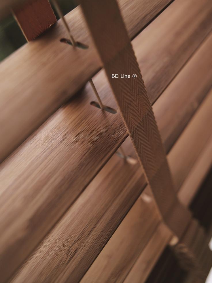 50mm Bamboe BD Line jaloezie uitgevoerd met 38mm ladderband