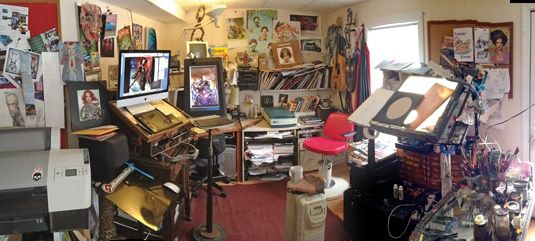 Enviable Workspace Is Packed Full Of Inspiration Art