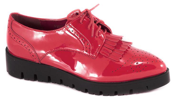 Pantofi fara toc - Pantofi de dama rosii 51975R - Zibra