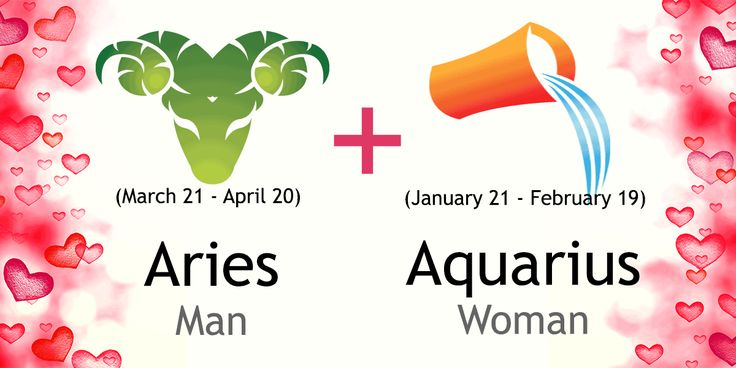 Love match compatibility between Aries man and Aquarius woman. Read about the Aries male love relationship with Aquarius female.