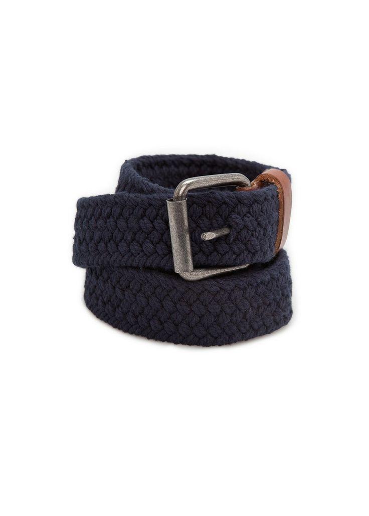Braided cotton belt REF. 23093521 - Trenza c VND749,000 Colour: Navy