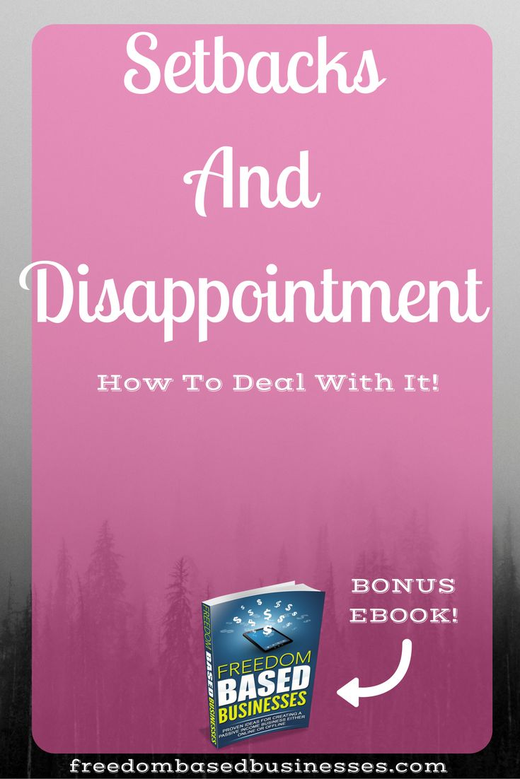 Setbacks can happen to the best of us. Learn how to deal with disappointment and develop yourself. Click through now to read the full post.