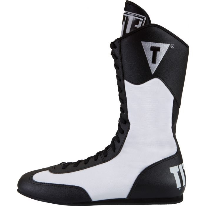 Title Boxing Speed-Flex Encore Mid-Length Boxing Shoes White//Black