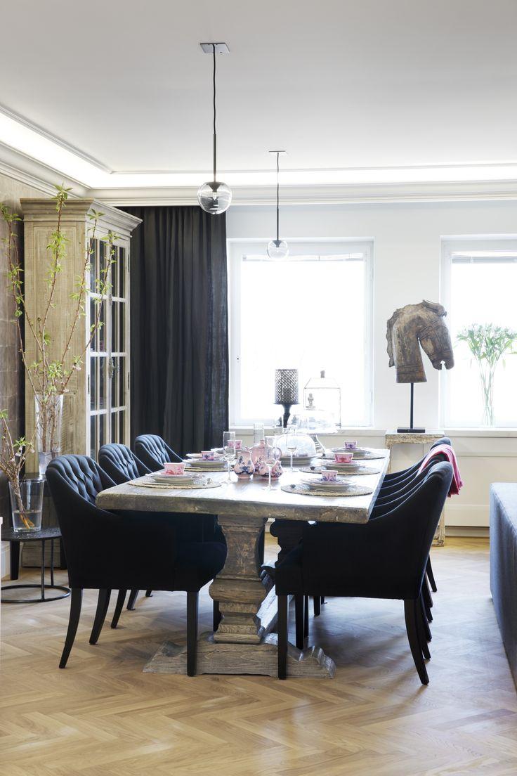 Dining Room / Penthouse Apartment At Bulevardi, Helsinki | Photo: Jaanis  Kerkis