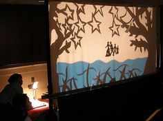 Shadow puppets are a great way to keep children engaged in a story. The only tough part is making the supplies. You can get a white sheet and attach it to pvc pipe or wood for a reusable scene. Then use felt finger puppets as the characters.