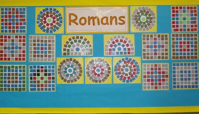 Roman style mosaics for 1st grade.