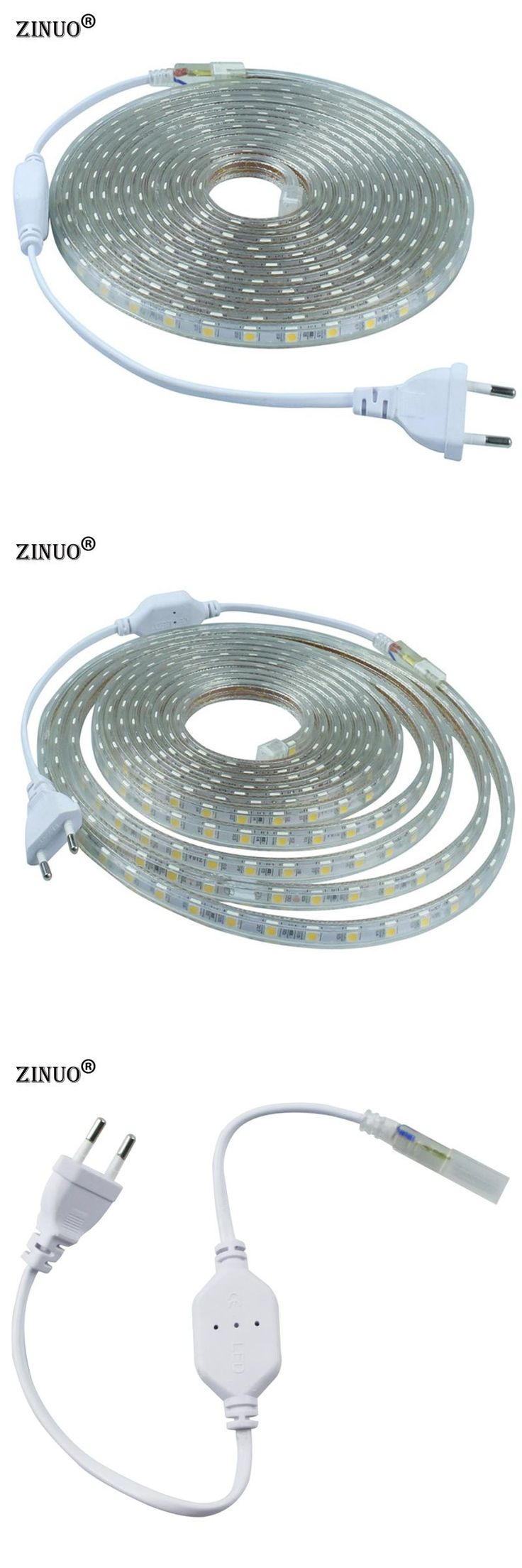 [Visit to Buy] ZINUO 220V 5050 Flexible Led Strip Light 1M/2M/3M/4M/5M/6M/7M/8M/9M/10M/15M/20M+Power Plug,60leds/m IP65 Waterproof led Ribbon #Advertisement
