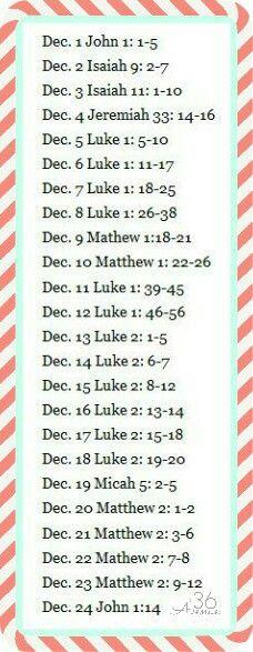 Scripture for December
