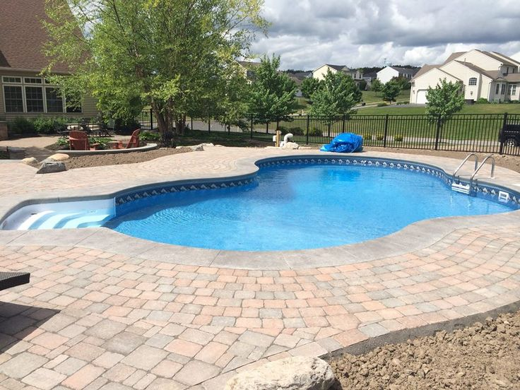 Aspen shape swimming pool in ground swimming pools built Swimming pools in liverpool with slides
