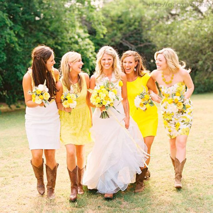 Damas de honor en color #freesia #Bridesmaids #dress #Wedding #YUCATANLOVE