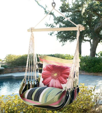 Chair SwingChairs Swings, Dreams, Outdoor Chairs, Swings Chairs, House, Gardens Parties, Design Pillows, Porches Swings, Outdoor Swings