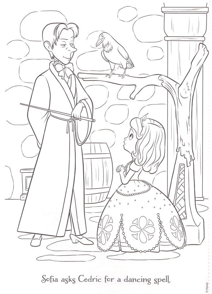Cedric coloring page Sofia the