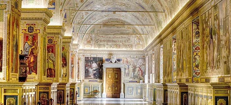 Vatican Museum in the evening.