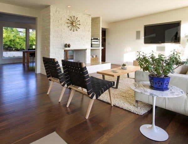Conceptions salons avec carrelage en bois ~ Décoration Salon / Décor de Salon