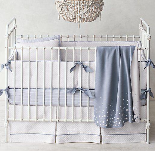 Love this sweet crib bedding with a sprinkle of stars #rhbabyandchild #fallinlove