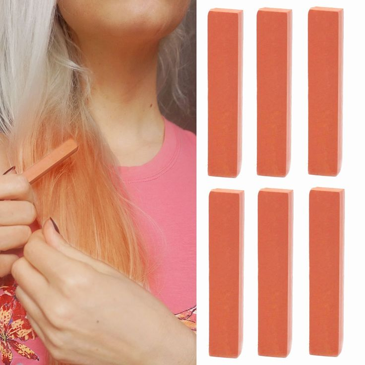 Copper Hair Dye | Mahogany Red Hair Color | MAPLE HONEY Temporary Hair Dye | With Shades of Coral Set of 6 Temporary Hair Color | Color your Hair Bronze in seconds with temporary HairChalk *** This is an Amazon Affiliate link. Details can be found by clicking on the image.