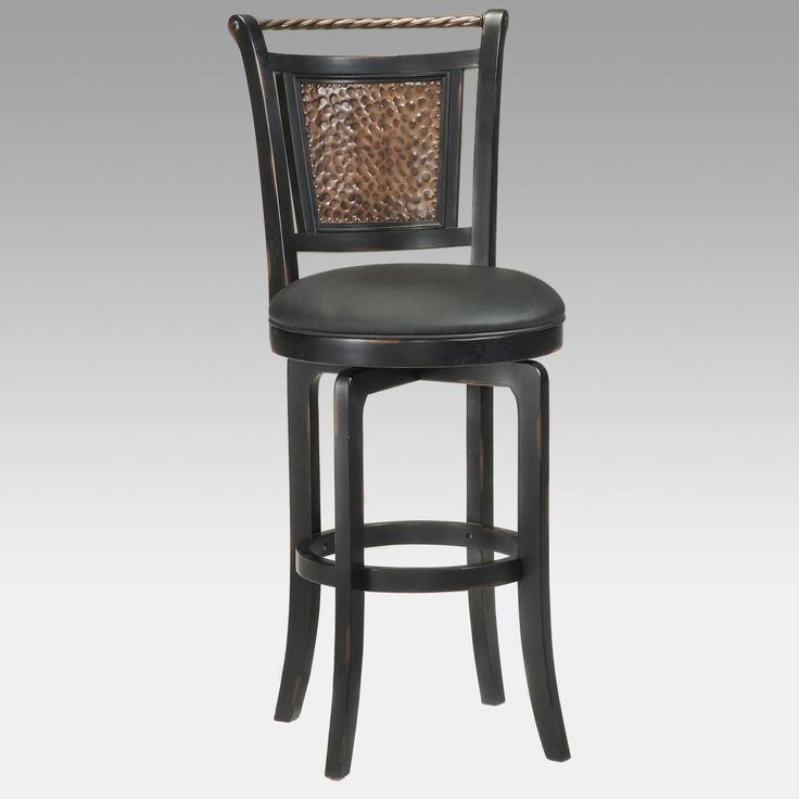 Hillsdale Norwood 26.5 in. Hammered Copper Back Swivel Counter Stool - 4935-826S