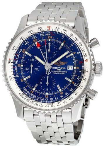 Breitling Navitimer World Blue Dial Stainless Steel Mens Watch A2432212-C651SS - http://watchesntime.com/breitling-navitimer-world-blue-dial-stainless-steel-mens-watch-a2432212-c651ss/