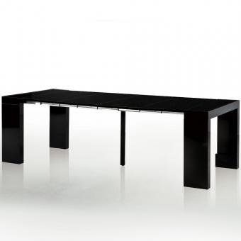 table console extensible pandore noir laqu e 777 599. Black Bedroom Furniture Sets. Home Design Ideas