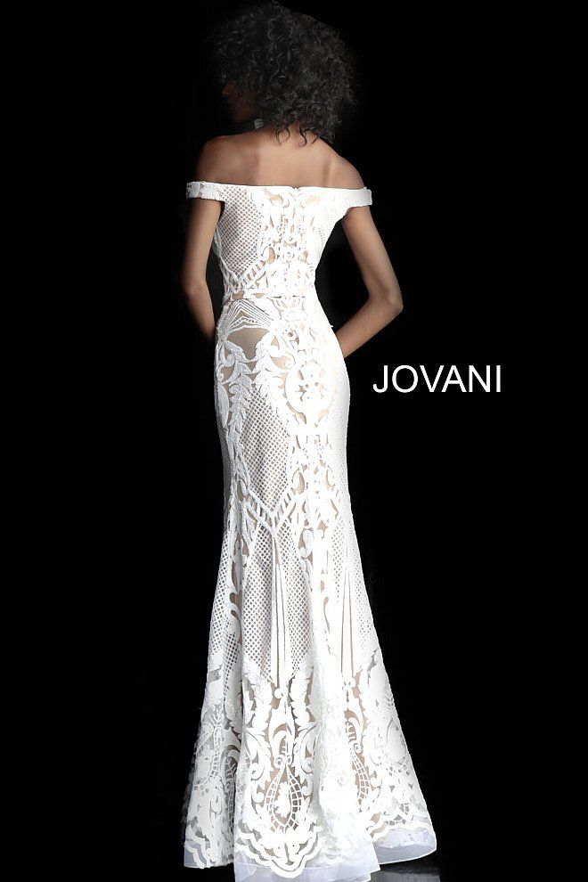 Jovani 64277 Short Wedding Dress Boho Wedding Dress Lace Mermaid Prom Dresses