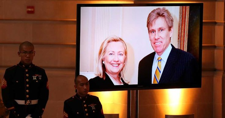 Ambassador Christopher Stevens and three other Americans - U.S. State Department staffer Sean Smith and Navy SEALs Glen Doherty and Tyrone Woods - were murdered during a 13-hour terror attack on our consulate in Benghazi, Libya, that started on the night of September 11, 2012.