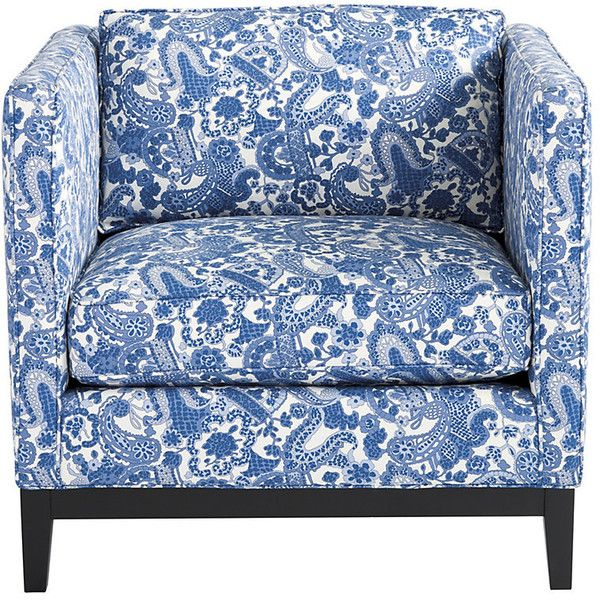Ballard Designs Marni Chair in Charlotte Blue - Stocked ($1,389) ❤ liked on Polyvore featuring home, furniture, chairs, accent chairs, eco friendly furniture, blue accent chair, blue chair, ballard designs and blue furniture