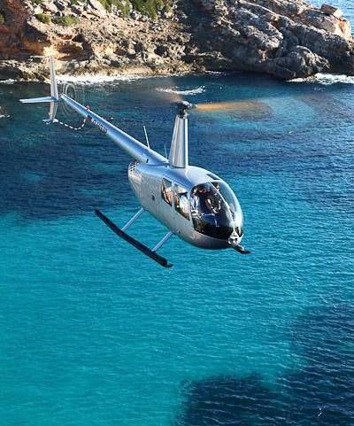 Mallorca Ausflüge, Helikopter Touren mit Gourmet Lunch, Weinprobe oder romantischem Picknick.