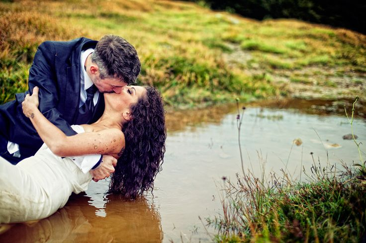 trash the dress in the puddle