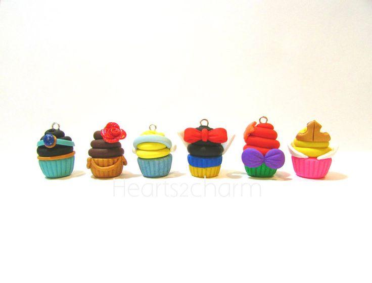 Cupcake Charms: Disney Princesses by Marielishere.deviantart.com on @deviantART