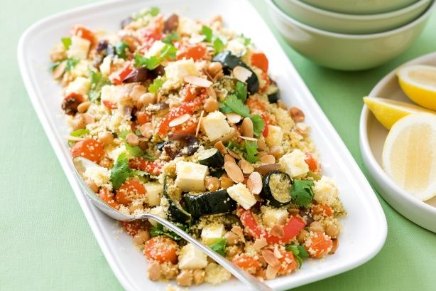 Chickpea, fetta and vegetable couscous