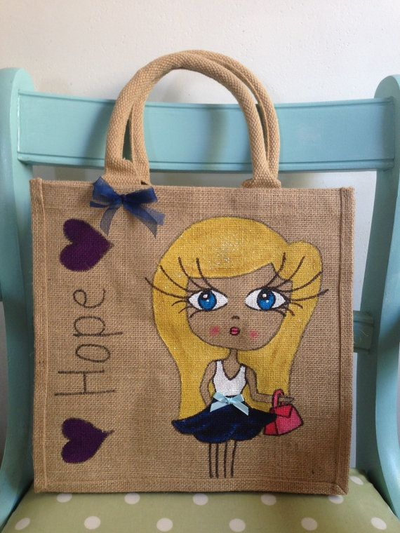 Personalised Jute Bags UK Based on Etsy, £14.00