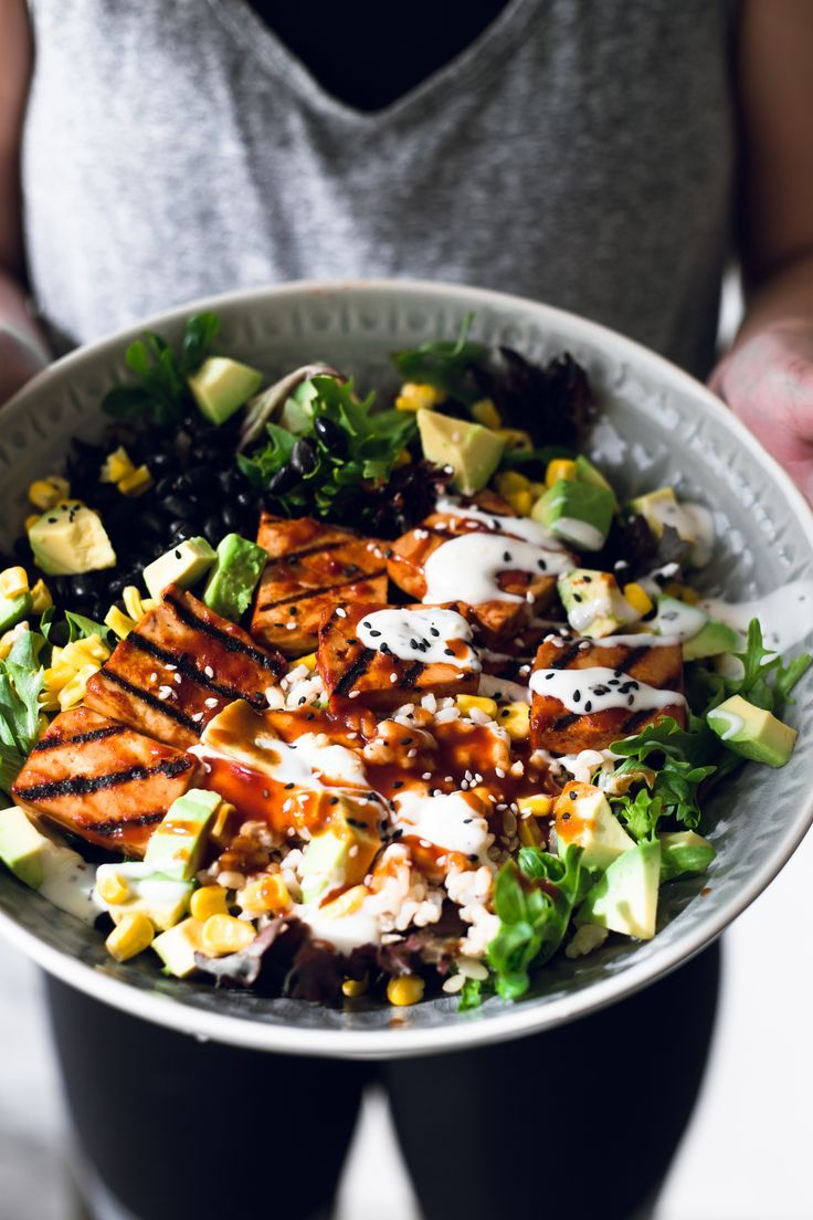 Vegan Barbecue Bowl With Smoked Tofu Crazy Vegan Kitchen Recipe Vegan Barbecue Smoked Tofu Recipe Bbq Recipes