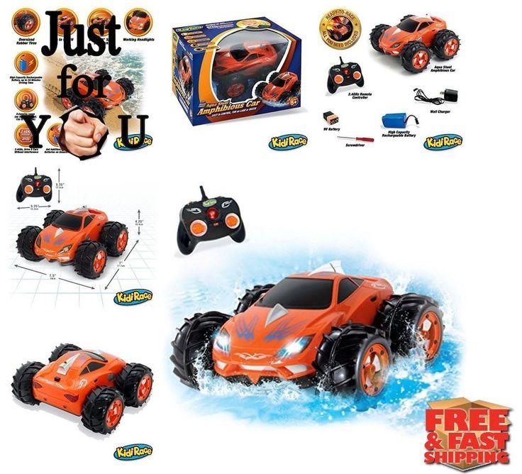 BEST Christmas Gift For Kid Boy Amphibious Remote Control Car Aqua Stunt RC Car #Kidirace