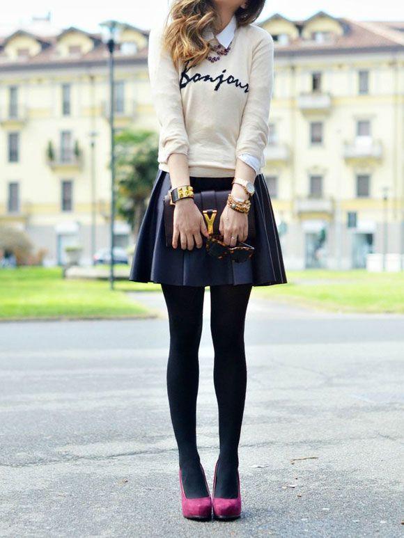 Fashion Fix: zwarte leren rok - My Simply Special