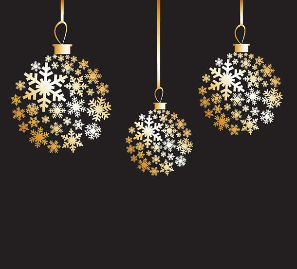 35 HQ Free Christmas Vector Graphics Gold OrnamentsChristmas