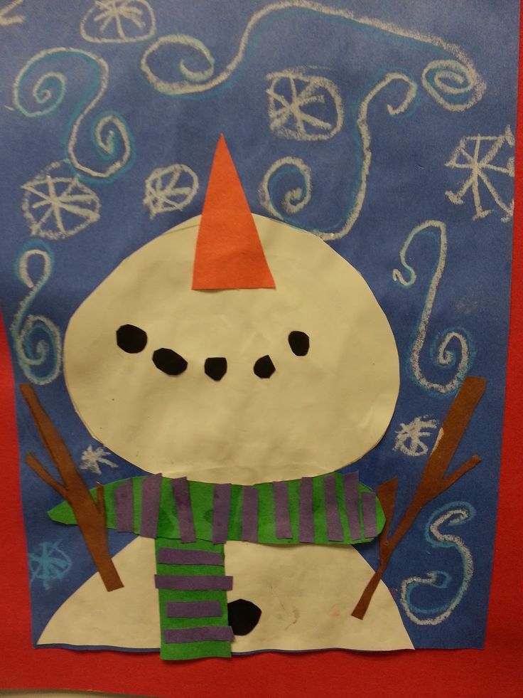 2nd grade snowman projects | 2nd Grade: Perspective Snowmen