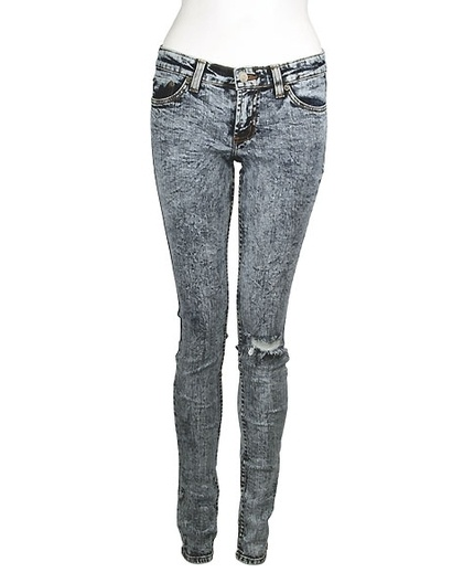 Jet By John Eshaya - Skinny Jeans with Busted Knee | Women's Fashion
