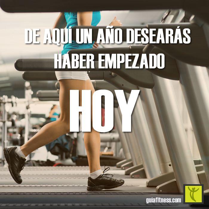 De aquí un año, desearás haber empezado hoy... ¡ponte en marcha! | Guía Fitness