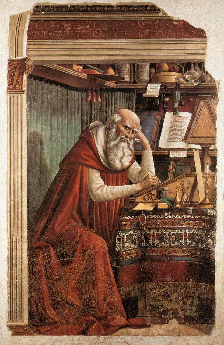 Domenico Ghirlandaio - St Jerome, (1480), Ognissanti, Florence