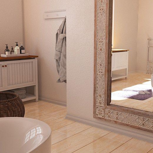 Ethnic papuan style carved frame for mirror in bathroom. Резная рама для зеркала в лофт стиле для ванной комнаты.