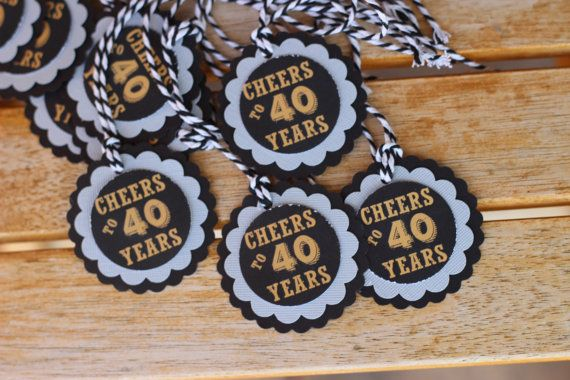 40th Birthday party decor. Masculine by CharmingTouchParties