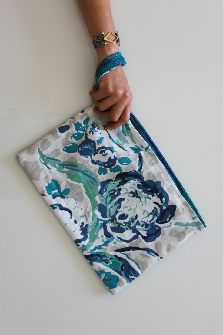 Indore Garden, 2-sided wristlet/clutch by FabofABag on Etsy