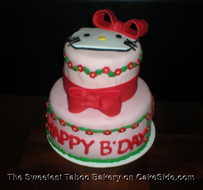 Hello Kitty Floral Surprise by The Sweetest Taboo Bakery on www.cakeside.com!
