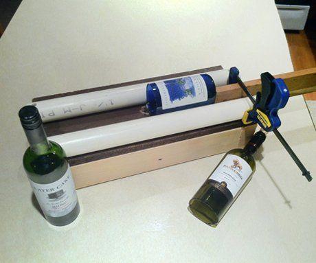 Simple adjustable glass bottle cutter cut wine bottles for Glass cutter for wine bottles