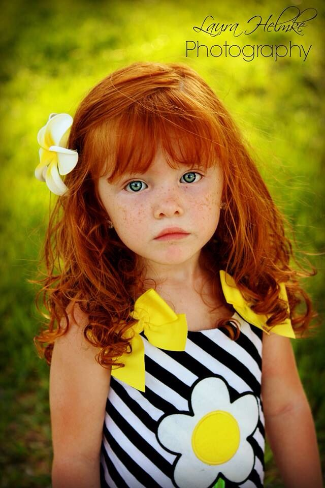 Redhead Children Girl Blue Eyes Gorgeous Ginger