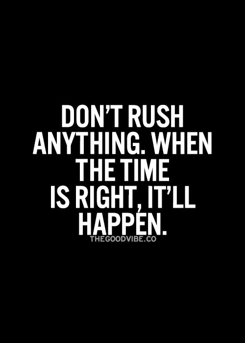 when we rush and make bad choices...yeah we screw up..when its based on lies to start with it will never work out.