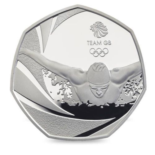 50p coin. 2016 Olympics Team GB 50 Pence. 2016 coin  Collectable Coin Hunt